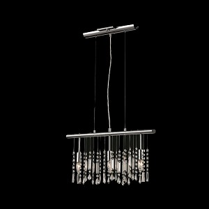 "Crystal Fusion Design 3 Light 22"" Linear Bar Pendant Chandelier with European Crystals SKU# 79987"