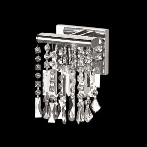 Crystal Fusion Design 1 Light 6'' Wall Sconce with European Crystals  SKU# 85003