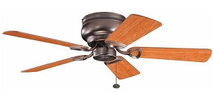 "Stratmoor Collection 42"" Oil Brushed Bronze Ceiling Fan with Reversible Walnut/Cherry Blades 339017OBB"