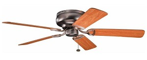 "Stratmoor Collection 52"" Oil Brushed Bronze Ceiling Fan with Reversible Walnut/Cherry Blades 339022OBB"