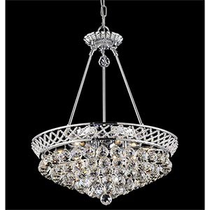 6-Light Chrome Chandelier Made with Grandcut Crystal - 369073