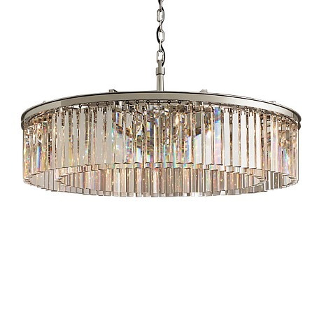 Rhys 10 Light Clear Glass Prism Chandelier In Polished