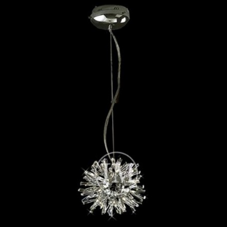 "Stellate Design 9-Light 8"" Polished Chrome Crystal Pendant SKU# 10783"