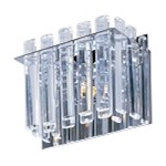 "Facets Collection 1-Light 8"" Polished Chrome Wall Sconce with Beveled Crystal Rods 39911BCPC"