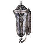 "Montecito 3-Light 27"" Tortoise Outdoor Wall Lantern with Water Glass 40144WGTR"