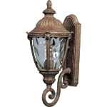 "Morrow Bay Vivex 1-Light 20"" Earth Tone Outdoor Wall Lantern with Water Glass 40284WGET"