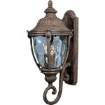 "Morrow Bay Vivex 3-Light 26"" Earth Tone Outdoor Wall Lantern with Water Glass 40285WGET"