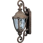 "Morrow Bay Vivex 1-Light 22"" Earth Tone Outdoor Wall Lantern with Water Glass 40287WGET"