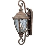 "Morrow Bay Vivex 3-Light 27"" Earth Tone Outdoor Wall Lantern with Water Glass 40288WGET"