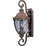 "Morrow Bay Vivex 3-Light 32"" Earth Tone Outdoor Wall Lantern with Water Glass 40289WGET"