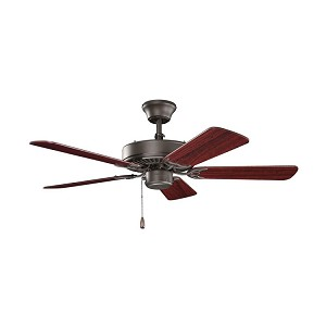 Kichler Satin Natural Bronze Ceiling Fan - 412SNB