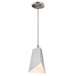 Kichler One Light Brushed Nickel Down Mini Pendant - 42753NI