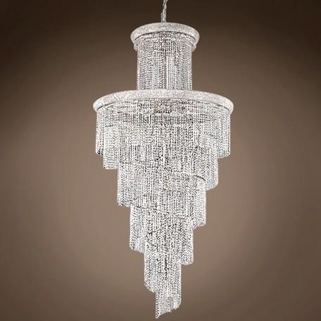 Spiral Design 41 Light 96 Gold Or Chrome Chandelier With