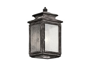 Kichler One Light Weathered Zinc Wall Lantern - 49501WZC