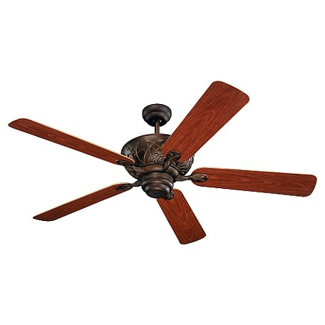 "Bayshore Collection 52"" Roman Bronze Indoor/Outdoor Ceiling Fan with Teak Blades 5BY52RB"
