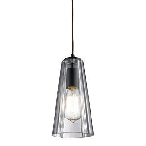 "Menlow Park Collection 1-Light 10"" Oiled Bronze Mini Pendant with Clear Blown Glass 60048-1"