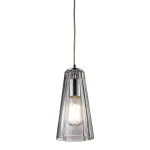 "Menlow Park Collection 1-Light 10"" Polished Chrome Mini Pendant with Clear Blown Glass 60058-1"