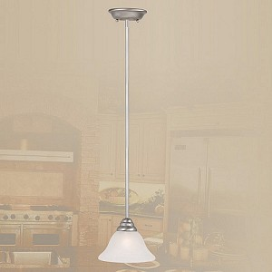 "Coronado Collection 1-Light 29"" –45"" Brushed Nickel Mini Pendant 6110-91"