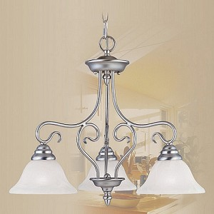 "Coronado Collection 3-Light 21"" Brushed Nickel Chandelier 6133-91"