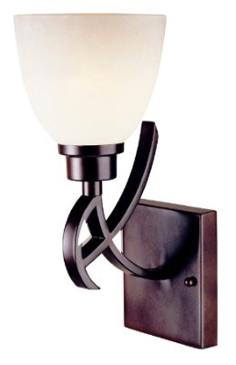 "Beyond Modern Collection 1-Light 13"" Weathered Copper Wall Sconce with Etruscan Glass 61513-56"