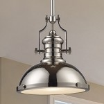 "Chadwick Collection 1-Light 14"" Industrial Polished Nickel Pendant 66114-1"