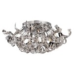 8 Light Crystal Ribbon Flush Mount Light in Chrome Finish with Crystal 700082-001
