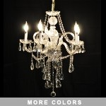 "Victorian Design 5-Light 28"" Gold or Chrome Chandelier with European or Swarovski Crystal SKU* 10495"
