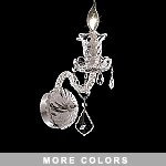 Victorian Design 1-Light 16'' Chrome, Gold, or Black Wall Sconce with European or Swarovski Crystals SKU# 31794