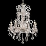 "Elizabeth Collection 8-Light 29"" Chrome Chandelier with Clear Swarovski Spectra Crystal 7830D29C/SA"