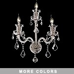 Victorian Design 3-Light 22'' Chrome, Gold, or Black Wall Sconce with European or Swarovski Crystals SKU# 10521