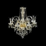 "Victorian Design 8-Light 32"" Gold or Chrome Chandelier with European or Swarovski Crystal SKU* 11132"