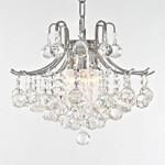 6 Light Contour Gold or Chrome Mini Chandelier with your choice of European or Swarovski Spectra Crystals SKU# 15254