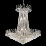 "Flamingo Design 16-Light 32"" Gold or Chrome Chandelier with European or Swarovski Crystals SKU# 10536"