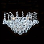 "Flamingo Design 3-Light 16"" Gold or Chrome Wall Sconce with European or Swarovski Crystals SKU* 10539"