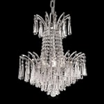 "Flamingo Design 4-Light 16"" Gold or Chrome Mini Chandelier with European or Swarovski Crystals SKU# 10540"