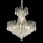 "Flamingo Design 8-Light 19"" Gold or Chrome Mini Chandelier with European or Swarovski Crystals SKU# 10541"
