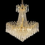 "Flamingo Design 11-Light 24"" Gold or Chrome Chandelier with European or Swarovski Crystals SKU# 11112"