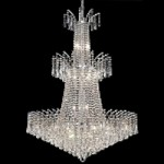 "Flamingo Design 18-Light 43"" Gold or Chrome Entryway Chandelier with European or Swarovski Crystal SKU# 11113"