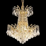 "Flamingo Design 4-Light 16"" Gold or Chrome Mini Chandelier with European or Swarovski Crystals SKU# 10545"
