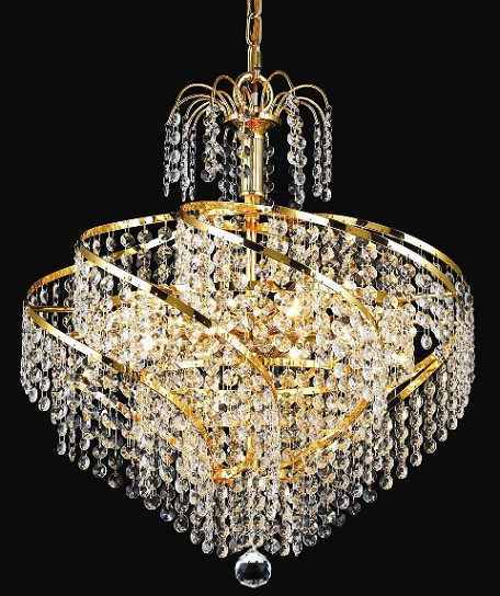 "Helios Design 8-Light 18"" Chrome or Gold Mini Chandelier with European or Swarovski Crystals SKU# 10561"