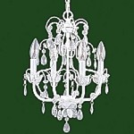 "Athena Collection 4-Light 18"" White Chandelier 8193-60"