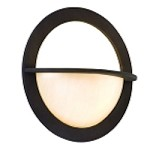 "Cirque Collection 1-Light 15"" Brown Suede Wall Sconce with Antique Pearl Glass 84-21"