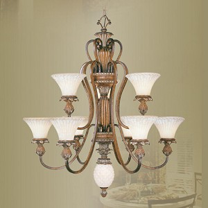 Savannah Collection 9-Light 40'' Venetian Patina Chandelier 8459-57