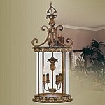 Savannah Collection 4-Light 32.25'' Venetian Patina Pendant 8474-57