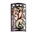 "Philippe Collection 1-Light 12"" Tahitian Bronze Wall Sconce with French Ice Glass 85-11"