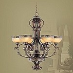 Seville Collection Palacial Bronze Chandelier – 8526-64