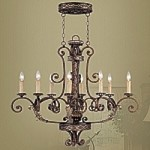 Seville Collection Palacial Bronze Chandelier – 8538-64