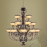 Seville Collection Palacial Bronze Chandelier – 8539-64