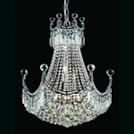 "Royal Throne Series 9-Light 28"" Gold or Chrome Chandelier with European or Swarovski Crystals SKU# 10605"