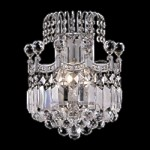 "Royal Throne 2-Light 12"" Chrome or Gold Wall Sconce with European or Swarovski  Crystals SKU# 11131"